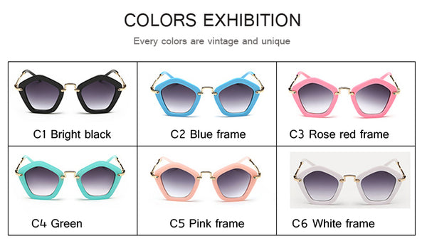 Cute Kids Sunglasses Irregular Pentagon Sun Glasses Children Baby Boys Girls UV400 Shades Oculos De Sol Lunette