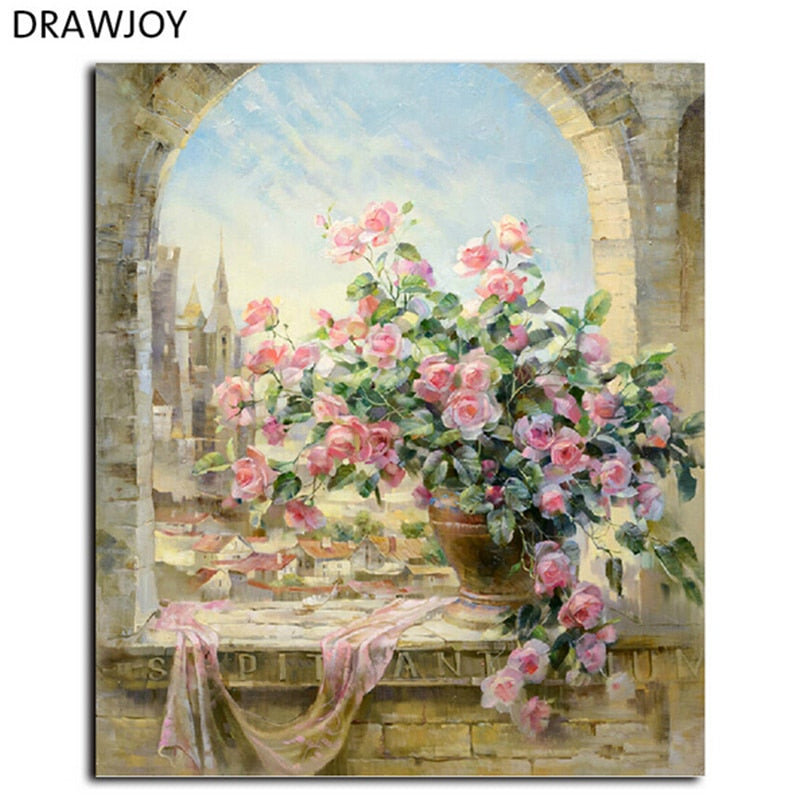 DRAWJOY Framed Pictures DIY Oil Painting By Numbers Home Decor For Living Room Wall Art G134 40*50cm