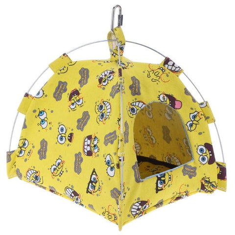 S/L Size Cartoon Bird Parrot Tent House Canvas Fabric Bird House Bed Cave Cage Hammock Mini Animal Parrot Pet Supplies