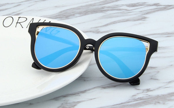 Children Sunglasses Plastic Metal Frame Girls Boys Brand Designer Sun Glasses For kids child UV400 oculos de sol
