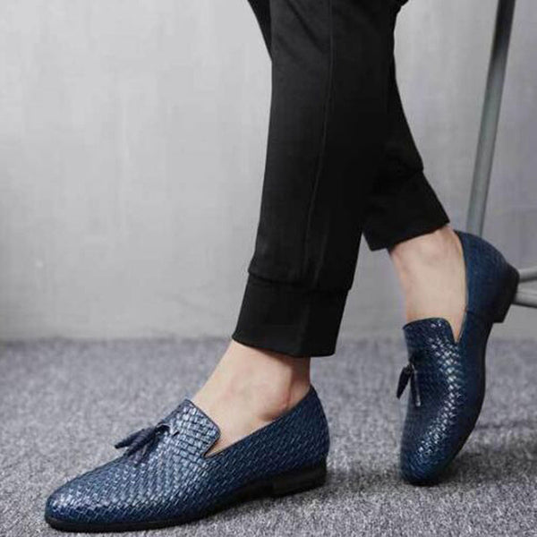 Tangnest NEW 2018 Brand Men Shoes Fashion Round Toe Slip-on Flats  Luxury Cow Split Leather Tassel Men's Driving Shoes XMR2784