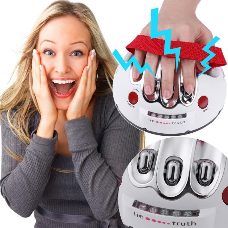 Funny Polygraph Toys - Micro Electric Shock Lie Detector - Party Joke Polygraph Adults Truth Testing Game Family Interactive Toy