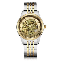 Dragon Automatic-Self-Wind Mechanical Waterproof Men's Watch Men Skeleton Analog Mechanical Wrist Watch bayan kol saati