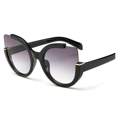 Sexy Cat Eye Sunglasses Women Brand Designer Mirror Sun Glasses Ladies Round Lens Shades for Women Eyewear UV400