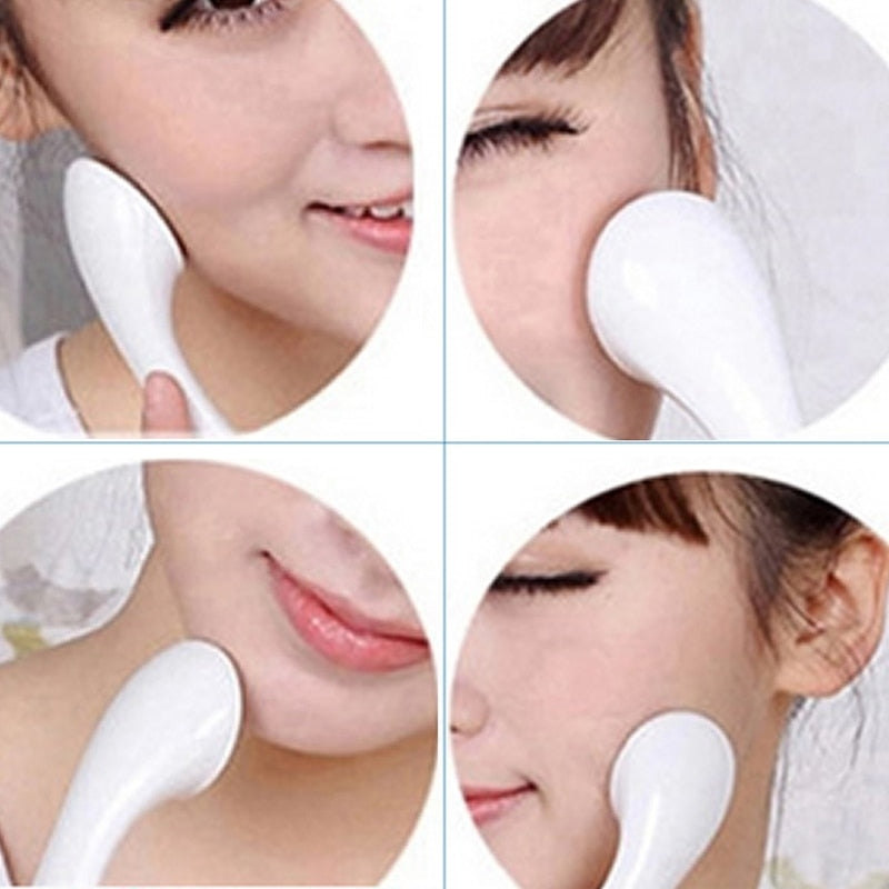 Woman Anti-wrinkle Whiten Ionic Face Massager Beauty Instrument Cleanser Roller Ion Makeup Facial Care Tools