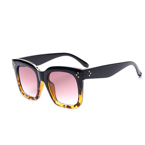 New Black Clear Oversized Square Sunglasses Women Gradient Summer Style Classic Sun Glasses Female Big Square Oculos De Sol