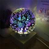 Wood colorful 3d Light Magic Projector ball 3d Lamp USB power supply bedroom atmosphere night light sky Table Lamp