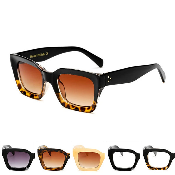 Women Sunglasses  Clear Colorful Frame  Sun Glasses For Lady Shades UV400 Sunglass Vintage Womens Glasses