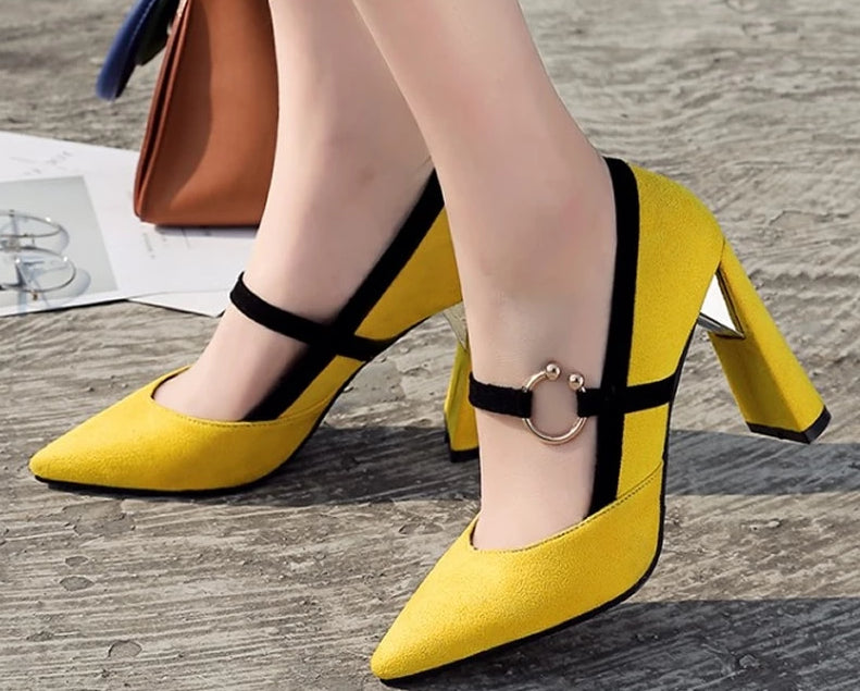 New spring/autumn party high heels Big size 33-46 fashion Pointed Toe Metal Decoration women shoes zapatos mujer