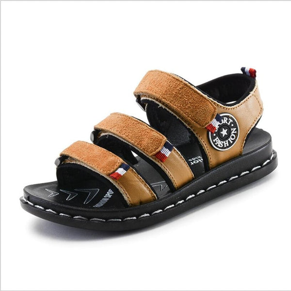 Summer children 's genuine  leather sandals boys beach shoes cowboy children' s casual sandals children 's sandals