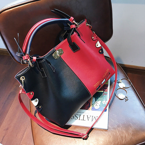 Bag Women Handbag Fashion Women Bag PU Leather Tote Bag Ladies Designer Patchwork Handbags Female Casual Large Shoulder Bag