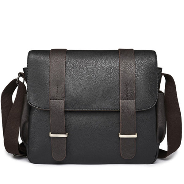 2019 Casual Men Shoulder Bag PU Leather Male Messenger Bags Laptop Handbags Large Capacity Men's Travel Bags Business Briefcases