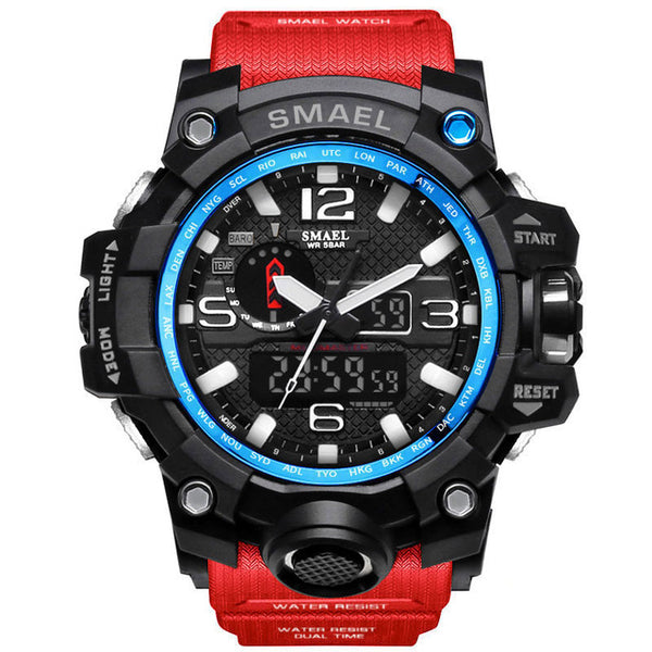 SMAEL 1545 Sport Watches for Men Waterproof Digital Watch LED