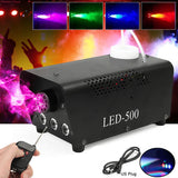 Wireless control LED 500W Fog Smoke Machine Remote RGB color Smoke ejector LED DJ Party Stage Light Smoke Thrower