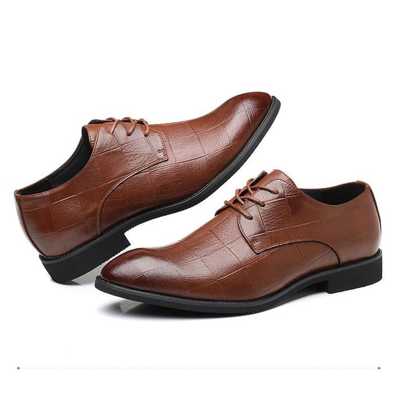 Tangnest NEW Men's Autumn Dress Shoes British Style Split Leather Slip-on Formal Shoes Round Toe Casual Flats Shoes Man XMP871