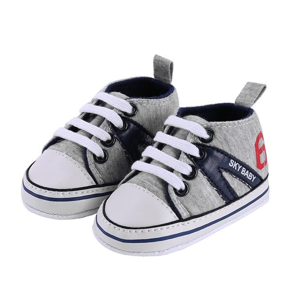 New Canvas Baby Sneaker Sport Shoes For Girls Boys Newborn Shoes Baby Walker Infant Toddler Soft Bottom Anti-slip First Walkers