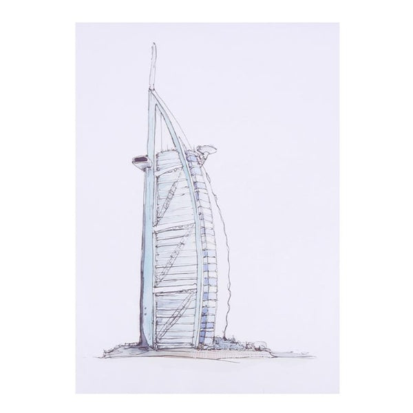 Oil Painting Wall Picture Modern Dubai Lugger Hotel Architecture Shape  DIY Oil Painting On Canvas For living room Home Decor