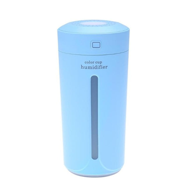 230ml Ultrasonic Air Humidifier USB Mini Aroma Diffuser Air Purifier LED Lights Humidificador Cup for Home Car Office