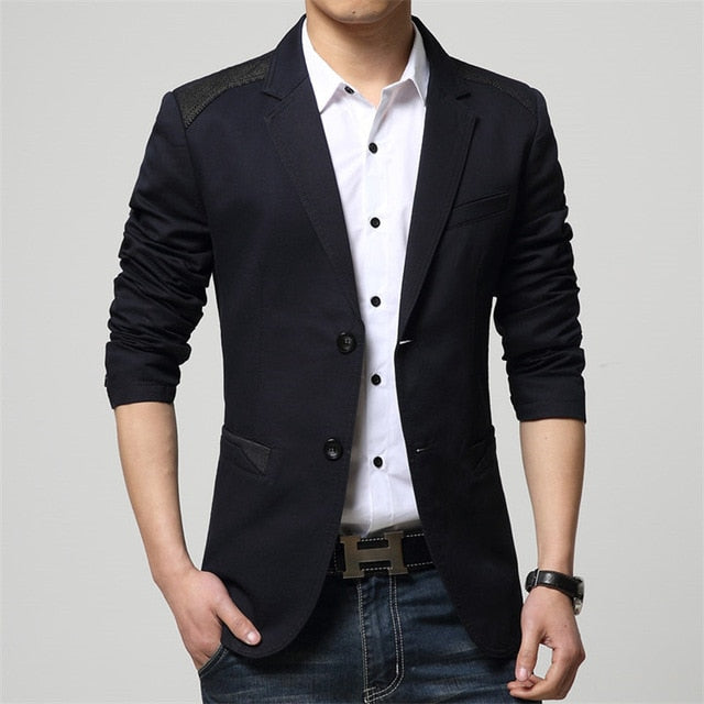 New 2019 Spring Autumn Clothing Blazers Men Suits Casual Two Button Double Breasted