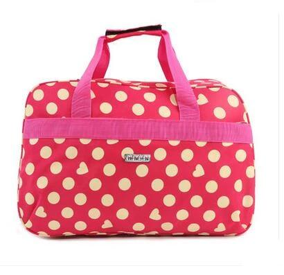 New Fashion Large capacity Waterproof Women Colorful Travel Bag Large Hand Luggage Bags Free Shipping DQ35