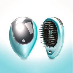 Portable Electric Hair Ionic Brush Hair Straightener Brush Negative ion comb Anti-static Massage Mini Straight Hair comb