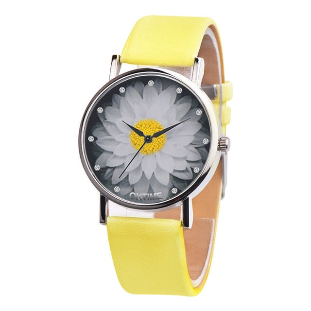 【Buy one get one free】New Fashion Ladies Watch Womens Flower Casual Leather Analog Quartz Wrist Watches Quartz Clock Gifts Relogio Feminino 2019  A65