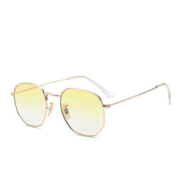 ZUCZUG Polygon Frame Metal Square Sunglasses Women Classic Vintage Pilot Sun Glasses Brand Design Gradient Sunglasses Oculos
