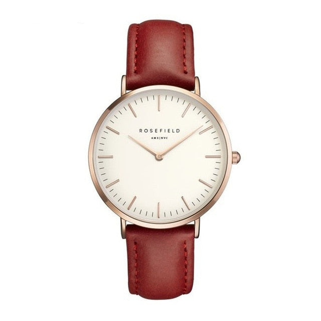 【Buy one get one free】 New Fashion Woman Watches Ladies Comfortable Leather Casual Quartz Wrist Watches Female Clocks Montre Femme