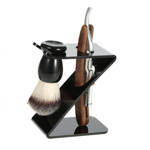 Old-fashioned Manual Shaving Brush Set Man Beard Razor Shavers Shaving Razor Hair Trimmer Washable For Home Salon With Knife new