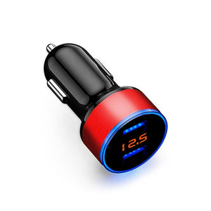【Buy one get two】12V-24V Car Charger Voltage Display Splitter Cigarette Lighter Socket Fast Charger on USB Quick Charge Adapter Auto Accessories