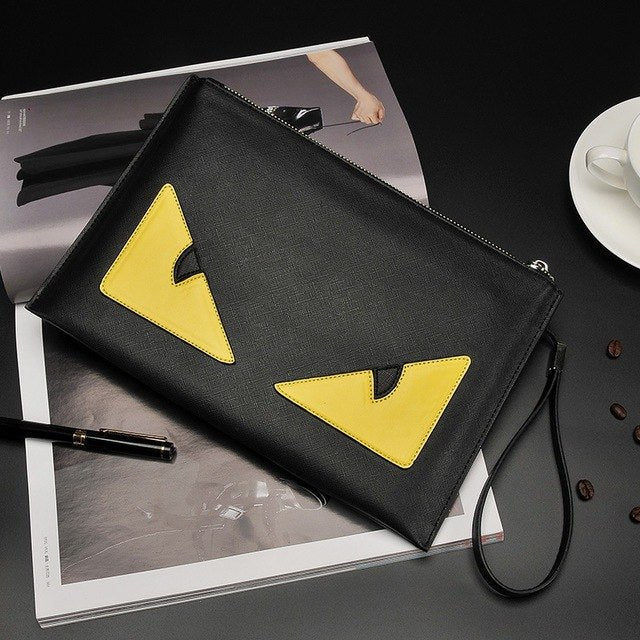 Hand Time-limited Single Bag Handbag Shoulder New Korean Women's Singles Diagonal Monster Envelopes Personality Pu Zipper