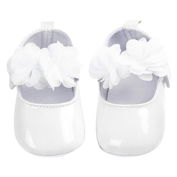 Toddler Girls Shoes PU Leather Sticker Princess Baby Prewalker Flower Decor Fashion Solid Color First Walkers shoes