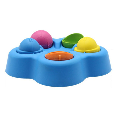 Pet IQ Educational Toy Cat Interactive Amusement Play Toy Cat Dog Feeding Bowl Funny Turntable Toys for Food