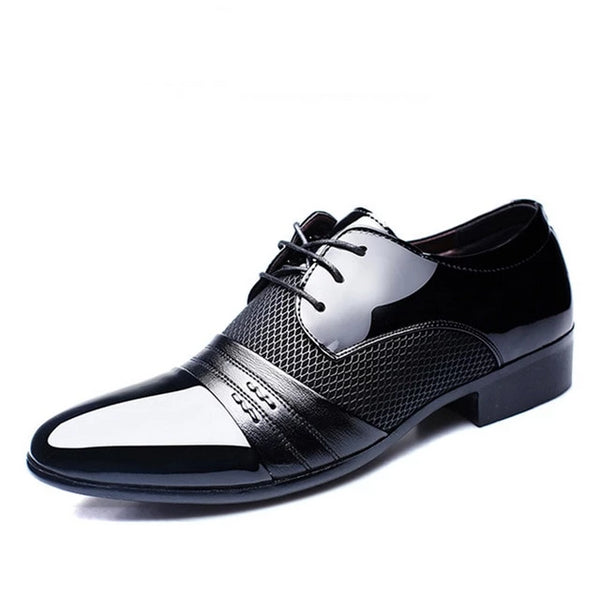 REETENE Men'S Dress Shoes Fashion Pu Leather Shoes Men Brands Wedding Oxford Shoes for Men'S Breathable Men Formal Footwear