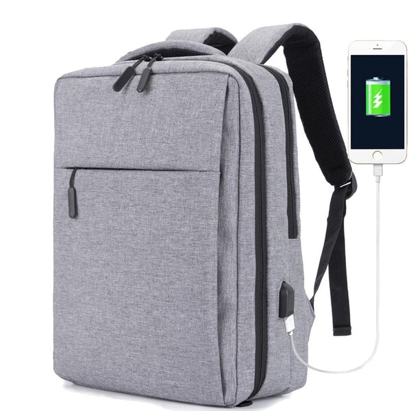15.6 17 inch Business Carry On Laptop Backpack, Anti Theft Backpack with USB Charging Port, Water Resistant College Computer Bag