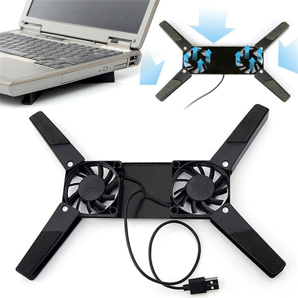 2 Fans Cooler Notebook Cooler Stand USB Fan laptop cooler For 10-17 Rotatable USB Fan cooling pad for Computer Laptop