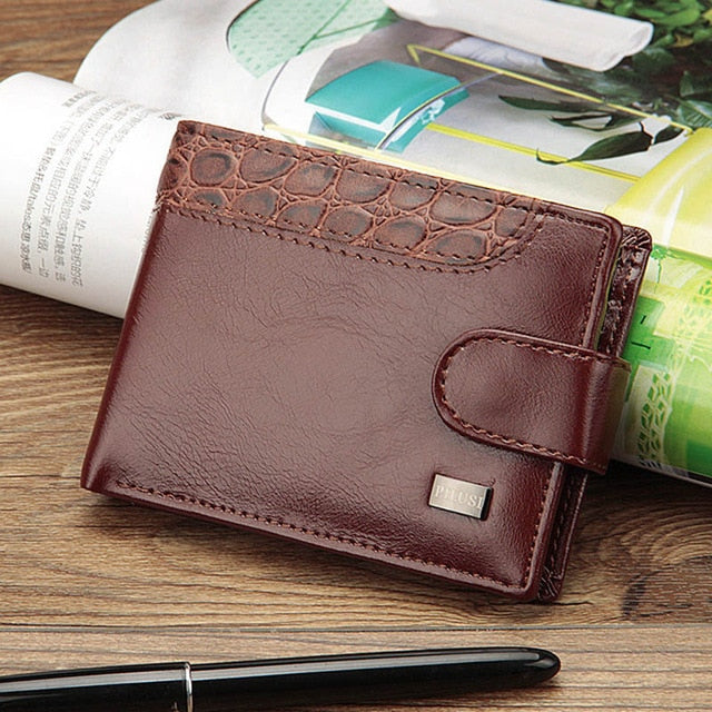 Baellerry Vintage Leather Hasp Small Wallet Coin Pocket Purse Card Holder Men Wallets Money Cartera Hombre Bag Male Clutch W066