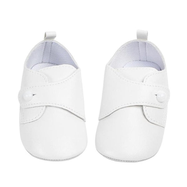 Baby Infant PU Leather Soft Soled Prewalkers Pure Color Toddlers Princess Button First Walkers Shoes Sneakers
