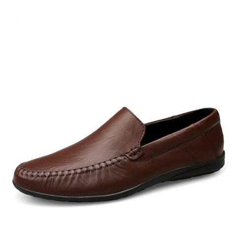 New Genuine Leather Men Shoes Men's Flats, Design Style Shoes Men Fashion Soft Moccasins Casual Shoes Big Size 37~47