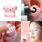 Hot Sale 1pc Cartoon Cute Facial Cleansing Exfoliator Cute Silica Gel Massage Deep Cleaning Face Brush Cleanser