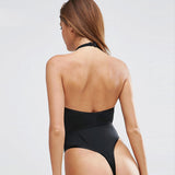 Women Sexy Bodysuit Hollow Out Halter Female Intimate Summer Beach Rompers 2018 New Fashion Jumpsuit