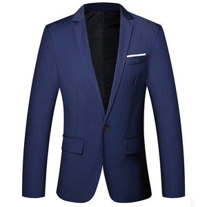 NEW Mens Fashion Brand Blazer British's Style Casual Slim Fit Suit Jacket Male Blazers Men Coat Terno Masculino M-3XL