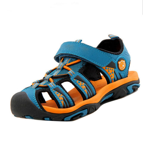 Children's Shoes Boys Sandals Summer Children's Sandals Cut-outs Kids Flats Shoes Comfortable Soft Bottom Anti-skid Kids Sandals