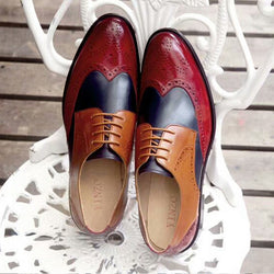 Mens Formal Shoes Leather Lightweight Lace Up Wedding Smart Dress Brogues Size