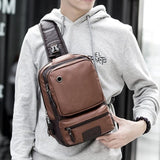 Brand Men's Shoulder Bag Vintage Men Crossbody Bag Men Chest Bags Casual Fashion PU Leather Men Messenger Bag L51