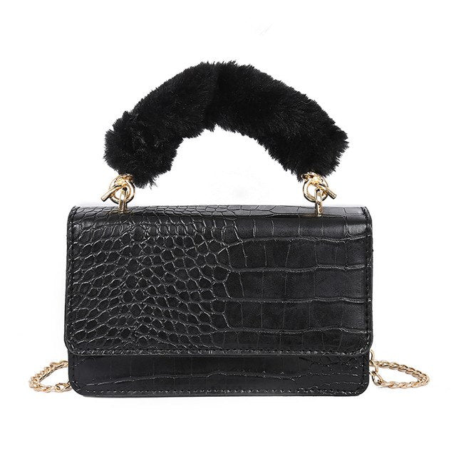 Women Brand Handbags Stone Crossbody Chain Bags High Quality Female Shoulder Bags Ladies Cowhide Crossbody Bag #10L