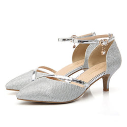 Sexy High Heels Shoes Woman Gold Silver Wedding Shoes Birde