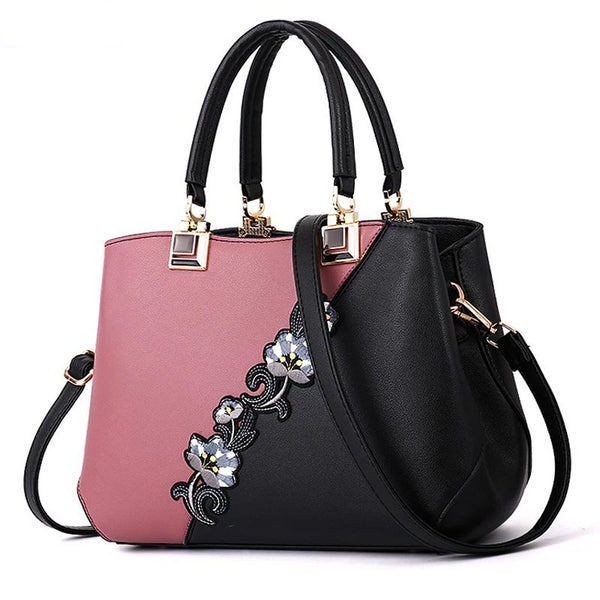 2019 New Flower Women Handbags Fashion Leather Handbags Designer Luxury Bags Shoulder Bag Women Top-handle Bags ladies bag L65