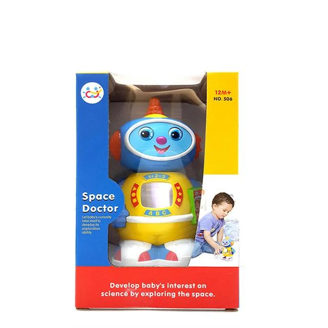 HOLA 506 Musical Rotating Robot Walking Lighten Electronic Toy Christmas Birthday Gifts For