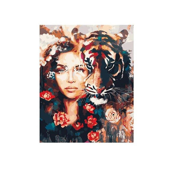 Lion Beauty DIY Painting By Numbers Canvas Painting Print On Canvas Gift For Home Decor Wall Artwork Drop Shipping VQV5789